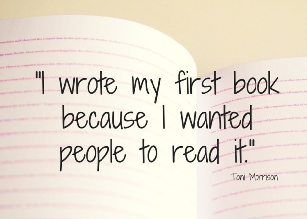I wrote my first novel because