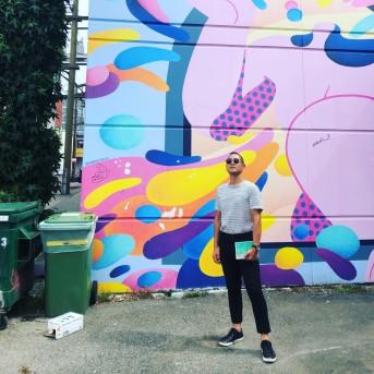 Eddy Boudel Tan - mural