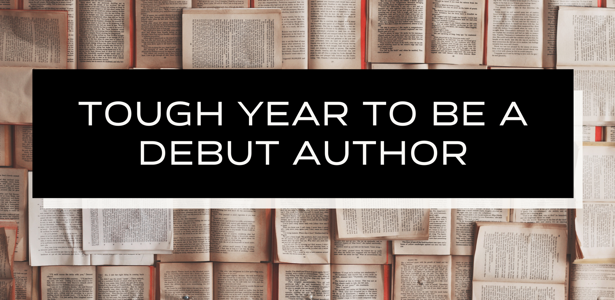 Tough Year To Be A Debut Author
